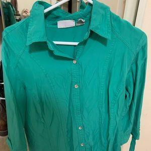 3/4 sleeve collared shirt